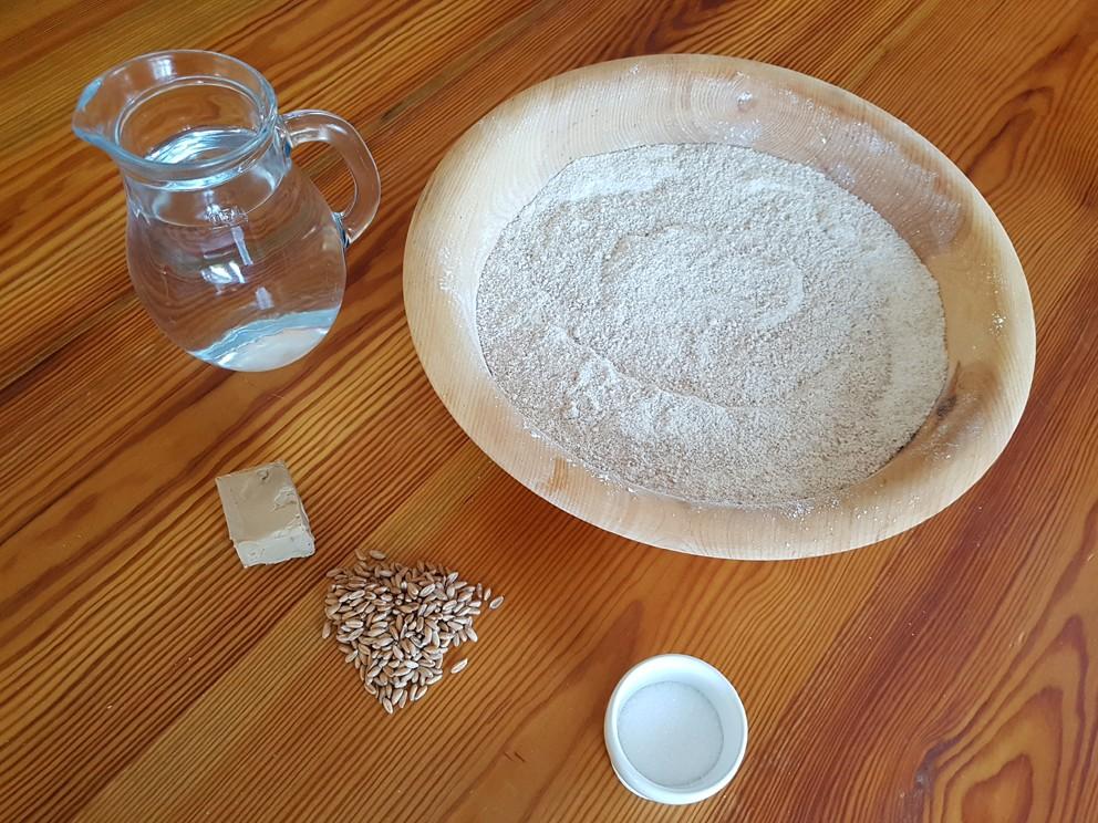 Backzutaten für Brot